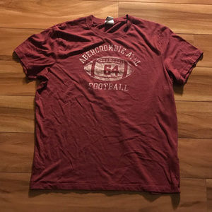 Abercrombie And Fitch Athletic Football Red Shirt